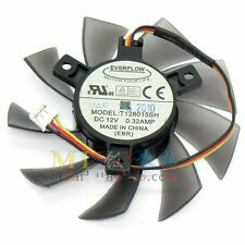 GIGABYTE GTS450 Video Card Fan T128015SH 12V 0.32A 3Pin 75*40mm #M2657 QL