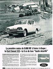 PUBLICITE ADVERTISING 014   1962   FORD    CONSUL 315