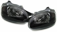 front black finish clear glass headlights front lights for Corsa B 93-00
