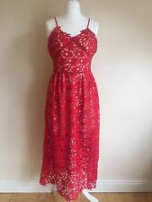 Floral Crochet Dress Size 12/14 Self Portrait