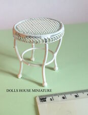 White Wire Drinks Table, Dolls House Miniatures 1.12 Scale