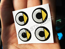 KIT 4 STICKERS ADESIVI 3D PER AUTO SMART LOGO SMART FORTOW FORFOR SM-203