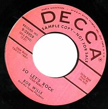 SO LET'S ROCK / SUGAR BABY Bob Wills  *HOT ROCKABILLY*