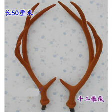 QW 50cm Simulation Antlers Decoration DIY Headwear Hat Prop Christmas Gift