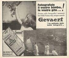 Z0396 Gevaert - Fotografate il vostro bimbo - Pubblicità del 1931 - Advertising