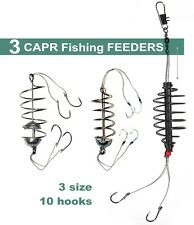3 pcs Carp Spring Fishing Feeder - 10 Fishing Hook - Coarse Bait Fishing Tackle