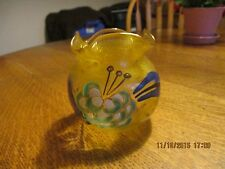 Beautiful French (France) ART GLASS Vase, Signed Legras - France on Bottom