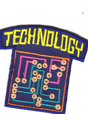 """""""TECHNOLOGY""""-Iron On Embroidered  Patch/School, Learning, Research"""
