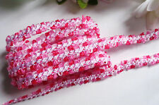 multicolor Ribbon Satin Braided Lace 3/8 inch wide    selling by the yard