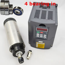 FOUR BEARINGS 2.2KW AIR COOLED SPINDLE MOTOR ER20 & INVERTER DRIVE