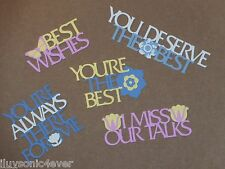 5 sentimental verses for greeting card die cuts   die cut