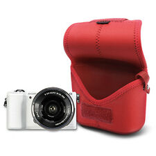 MATIN Neoprene DSLR SLR RF Mirrorles Camera Soft Body Case Pouch Bag (M/Red)