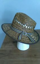 Mens Authentic Amish Straw Hat Small Sunset Hats Holmes County Ohio Handmade