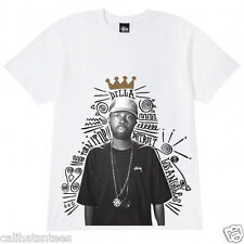 STUSSY J DILLA Collab T-shirt Turn It Up Los Angeles Tee Adult MEDIUM White New