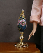 1:6  Scale ~ CLOISONNE  EGG  ON  STAND  for  Barbie ~ Patsy Mac ~ Room Box