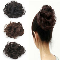 Women Girls Synthetic Fiber Pony Tail Hair Extension Wig Bun Scrunchie Hairpiece