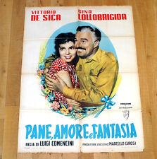 PANE AMORE E FANTASIA manifesto poster affiche Vittorio De Sica Lollobrigida