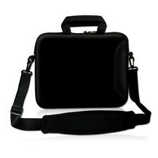 "BLACK 17"" 17.3"" Laptop Carrying Bag Sleeve Case w. Side Pocket Shoulder Strap"