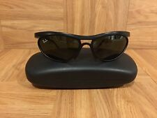 VTG!�� 1980's Ray Ban Sport Sunglasses Black Wrap Around Bausch & Lomb USA