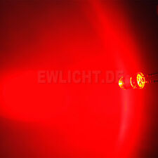 100 LEDs 5mm Rote 14000mcd LED Rot Red Möbell Beleuchtung Auto Tuning Modellbau
