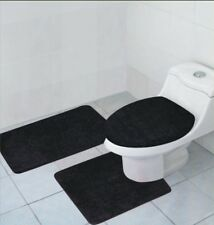 3 PIECE BATHROOM RUG, CONTOUR RUG AND LID COVER SET, HAILEY RUG SET, 14 COLORS