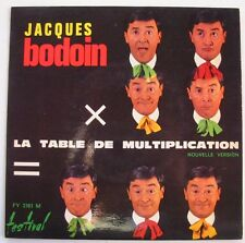 JACQUES BODOIN  (EP 45 Tours)  LA TABLE DE MULTIPLICATION
