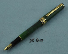Wing Sung Lucky 2007 Green Fountain Pen Fine Nib Unique Decagon Design