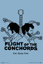Flight of the Conchords Eat Sleep Folk Bret Jemaine HBO TV Show Poster - 12x18