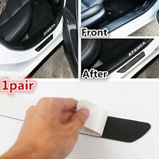 2pcs Car Door Scuff Plate Sill Cover Panel Protector Cover real Carbon Fiber New
