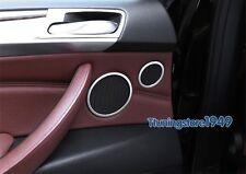 Aluminum Door Speaker Sound cover Chrome trim ring For BMW X5 E70 X6 E71 08-13