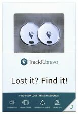Genuine TrackR Bravo Two Pack Tracking Device Crowd GPS Tracker Key Finder NEW