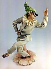 Rare Antonio A Borsato Italian Capodimonte The Court Jester Figurine  Porcelain