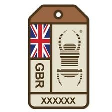 Geocaching Travel Bug 6 Inch Sticker UK Origins NEW DESIGN UK Flag Car Sticker