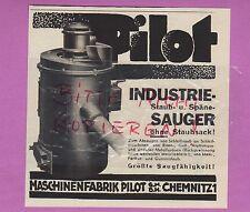 CHEMNITZ, Werbung 1936, Maschinenfabrik Pilot GmbH Industrie-Sauger