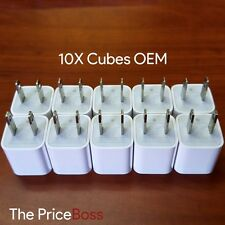 10X Genuine OEM USB Wall Charger Apple A1385 Charging Cube Adapter New