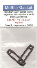 ASP .12, .15, & .21 Exhaust/Muffler Gasket 2 Pack NIP