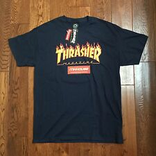 New Thrasher Magazine Flame Logo T-Shirt Tee SS 2016 Sold at Supreme Size M