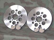 """Sportster, Shovelhead Stainless Steel Dual Disc 10"""" Brake Rotors & Pads."""