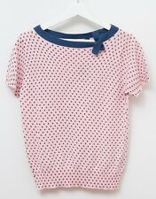 NWT MARC JACOBS Cotton Cashmere Sweater Pink Blue Polka Dots Size L NEW!