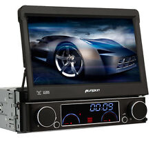 "7"" 1 DIN Car DVD CD Player GPS Flip Out Radio RDS USB SD MP3 BT TV Touch screen"