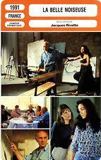 Fiche Cinéma. Movie Card. La belle Noiseuse (France) 1991 Jacques Rivette