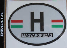 Hungary Country Flag Oval Decal