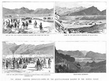 PAKISTAN Views on the Quetta Kandahar Railway - Antique Print 1885