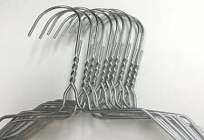 "100 Strong Silver color (like Chrome) Steel Wire Hangers Size 16"" 13.25 Gauge"