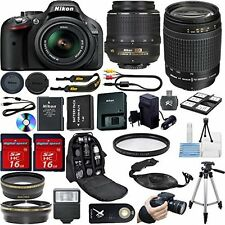 Nikon D5200  DSLR Camera -With 18-55mm Lens+70-300mm Lens Pro Essentials Kit
