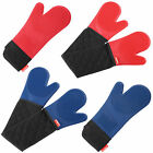 VonShef Heat Resistant Silicone Kitchen Oven Glove Cooking Mitt - Single/Double