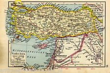 Antique map Turkey / Syria 1940 Türkei  karte