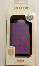 Speck Fitted Case -Blue/Pink Checker for iPod Touch 4G #SPK-A0640