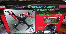 Swift Stream Z-36CV 2.4GHz 5-Channel RC Drone with Camera and 2GB Memory Card