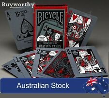 Tragic Royalty Halloween Undead BICYCLE Glow in UV Light Playing Cards Deck New